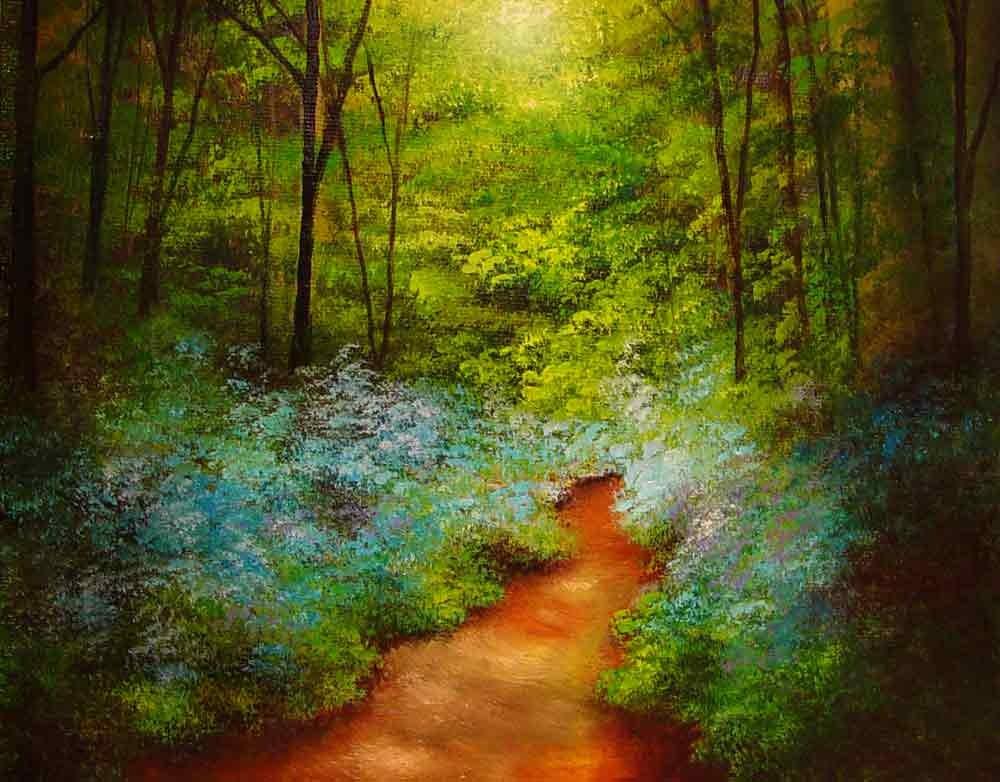 """""""Springtime Emerging"""" original fine art by Bob Kimball"""