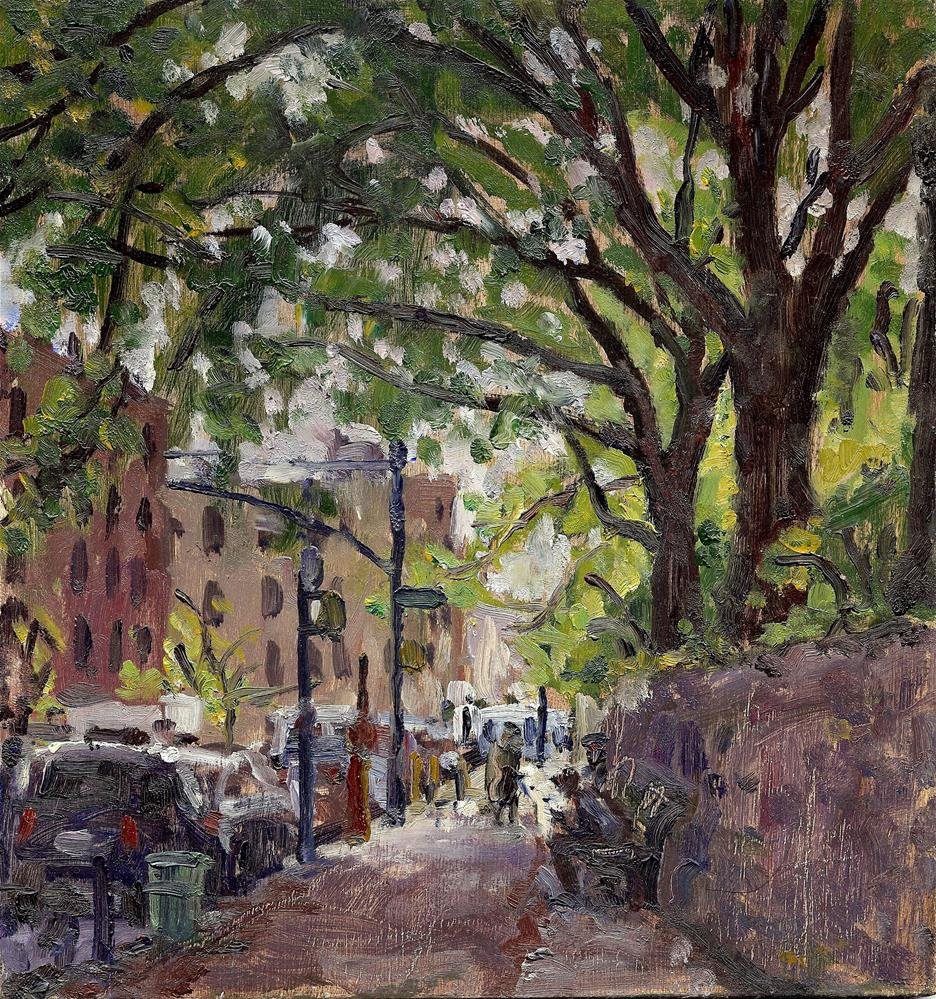 """Isham Park and Broadway, NYC"" original fine art by Thor Wickstrom"