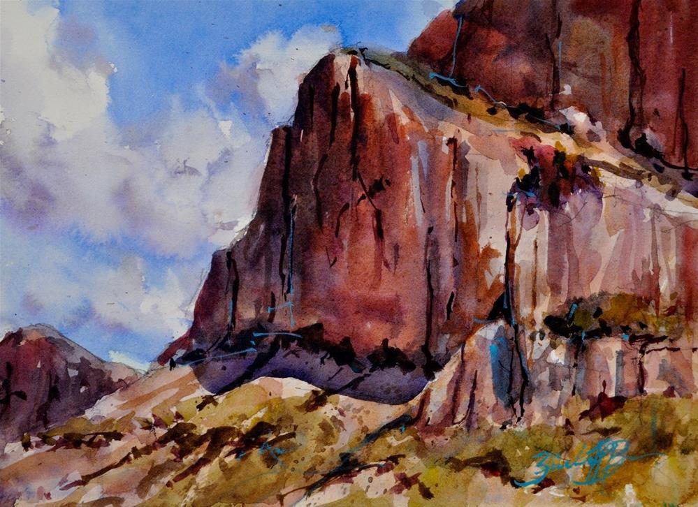 """""""Tucson Afternoon"""" original fine art by Brienne M Brown"""