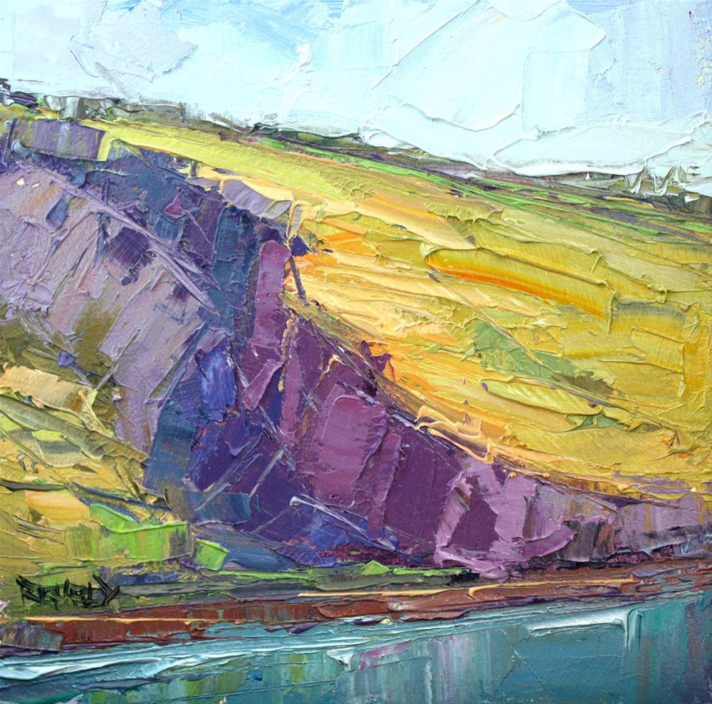 """The Syncline @ The Columbia River"" original fine art by Cathleen Rehfeld"