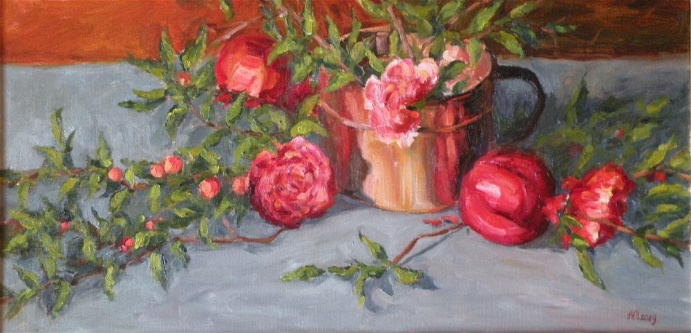 """Pomegranate Reflection"" original fine art by Alice O'Leary"