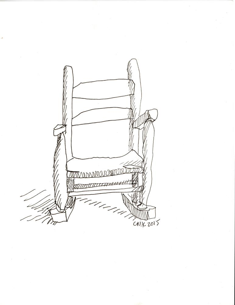 """Grandkid chair"" original fine art by Catherine Kauffman"
