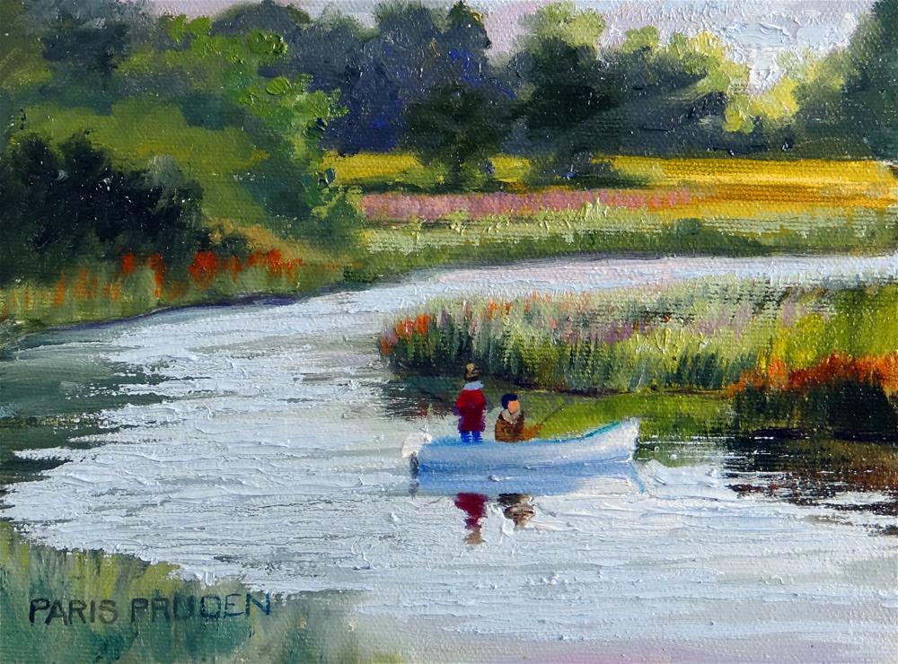 """Goin Fishin, Two"" original fine art by Nancy Paris Pruden"