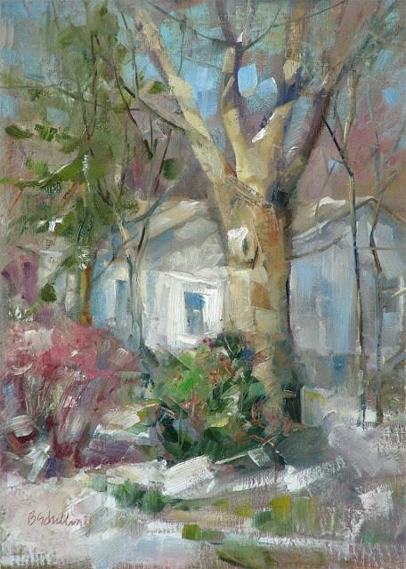 """Just a Scuff"" original fine art by Barbara Schilling"