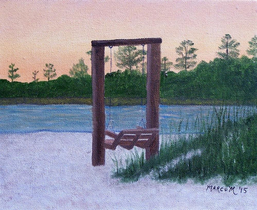 """Swing at Sunset"" original fine art by John Marcum"