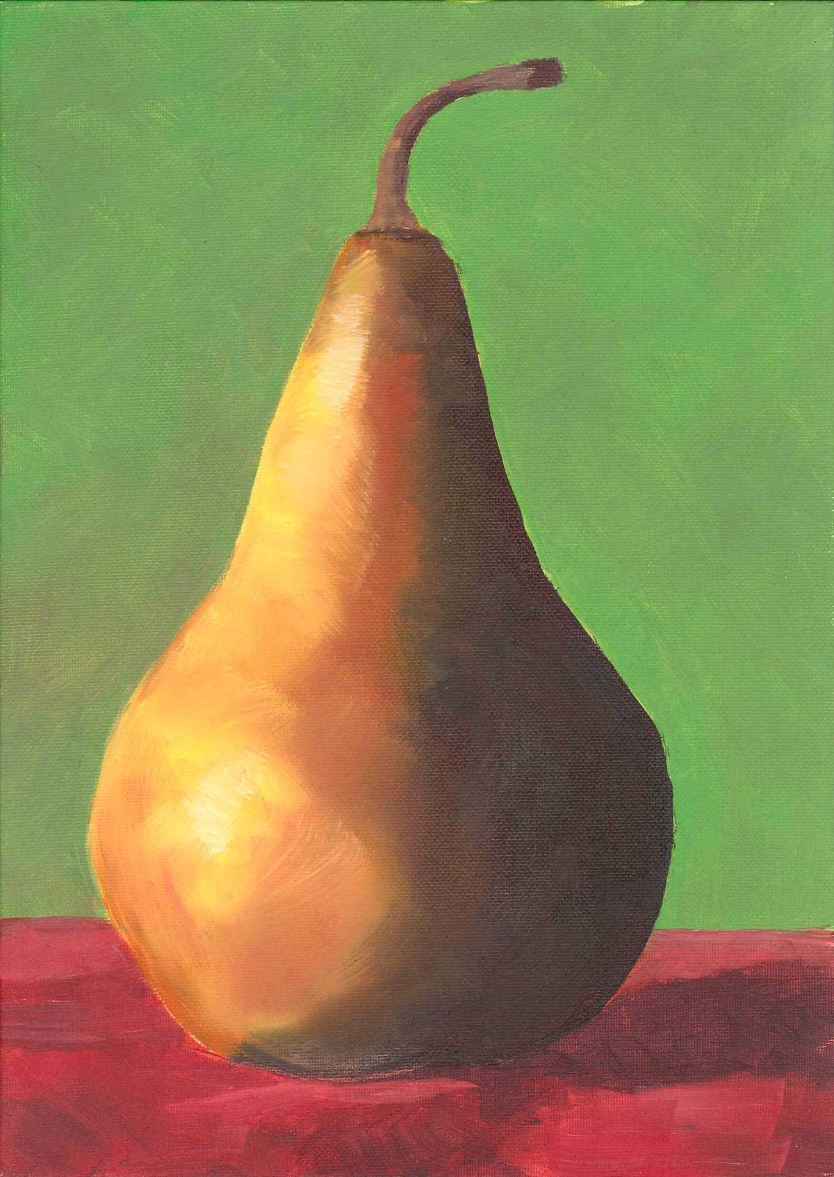 """Pear in Color"" original fine art by Elizabeth Dawn Johnston"