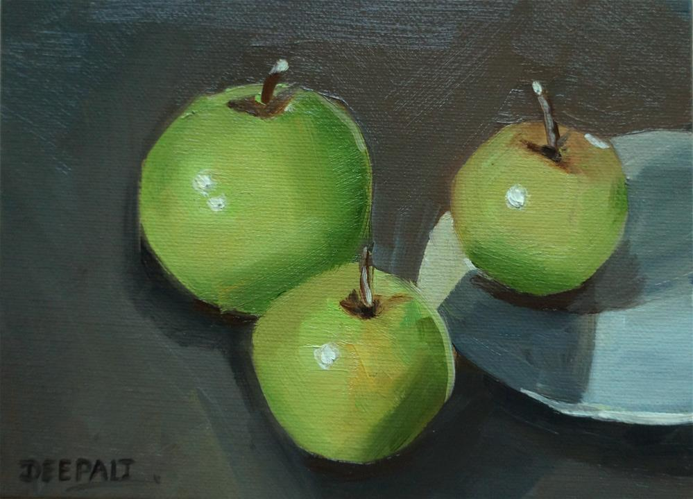 """Apples"" original fine art by Dipali Rabadiya"