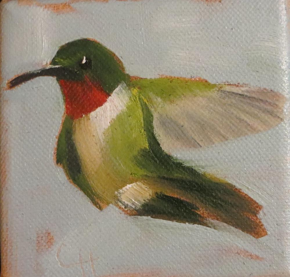 """Hummingbird"" original fine art by Claire Henning"