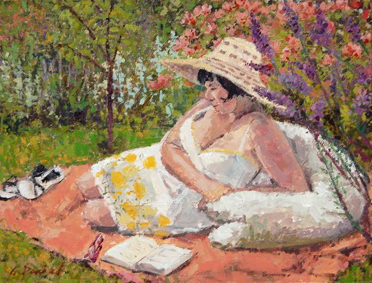 """Summer Reading"" original fine art by Andrew Daniel"