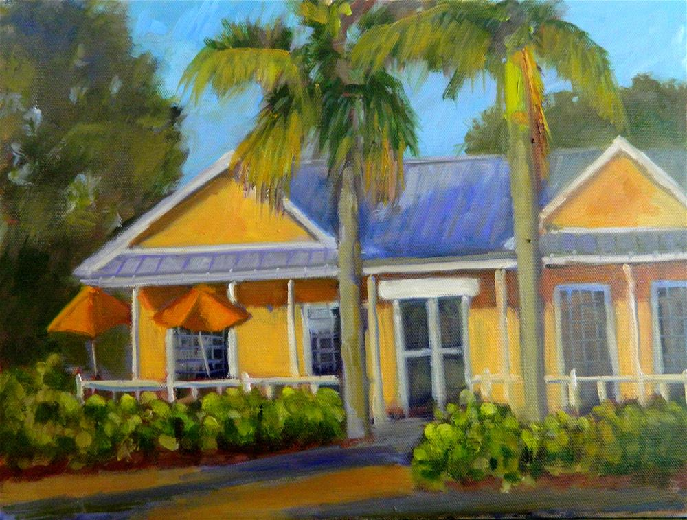 """Orange House"" original fine art by Sharon Yarbrough"