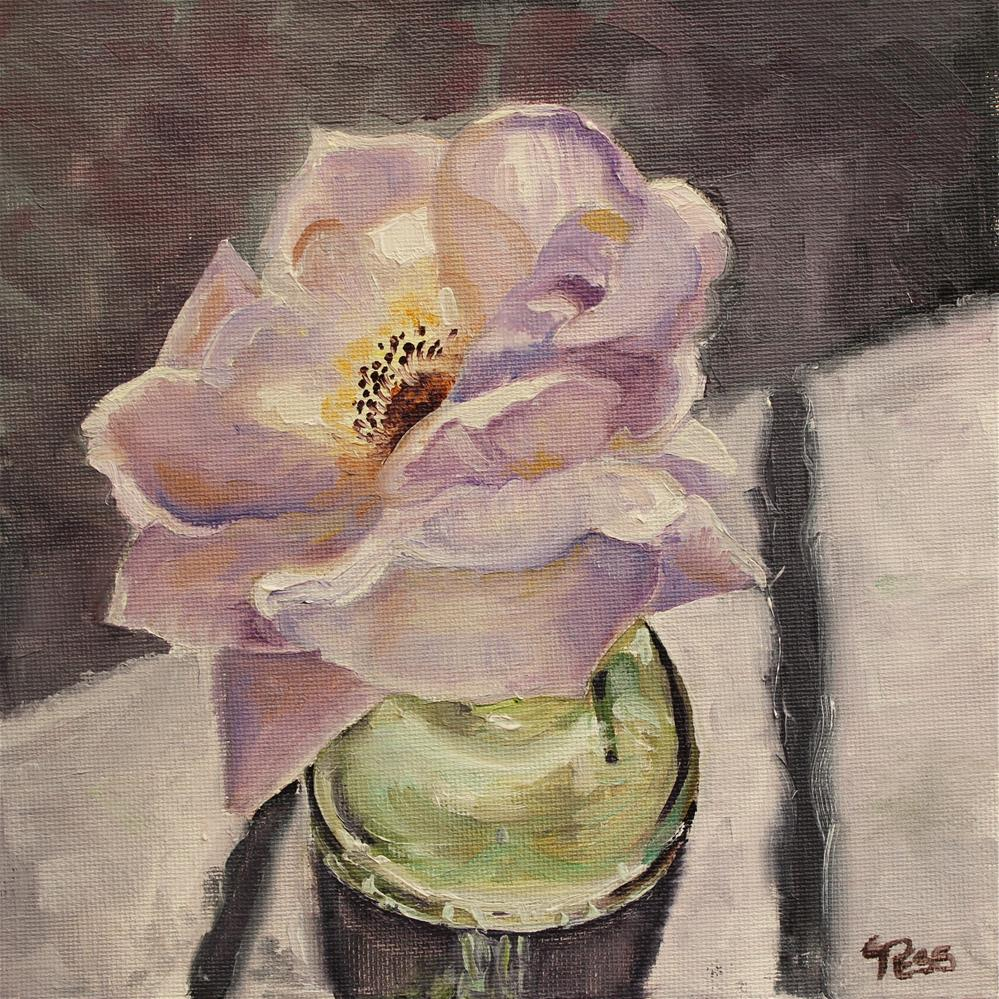 """A Single Rose"" original fine art by Tess Lehman"