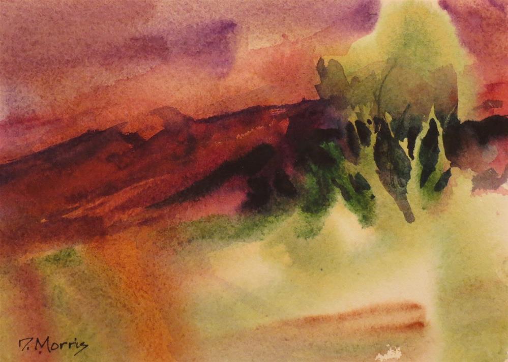 """Red Twilight"" original fine art by Dann Morris"