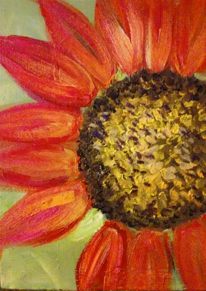 """painted daisy"" original fine art by Gerri Obrecht"