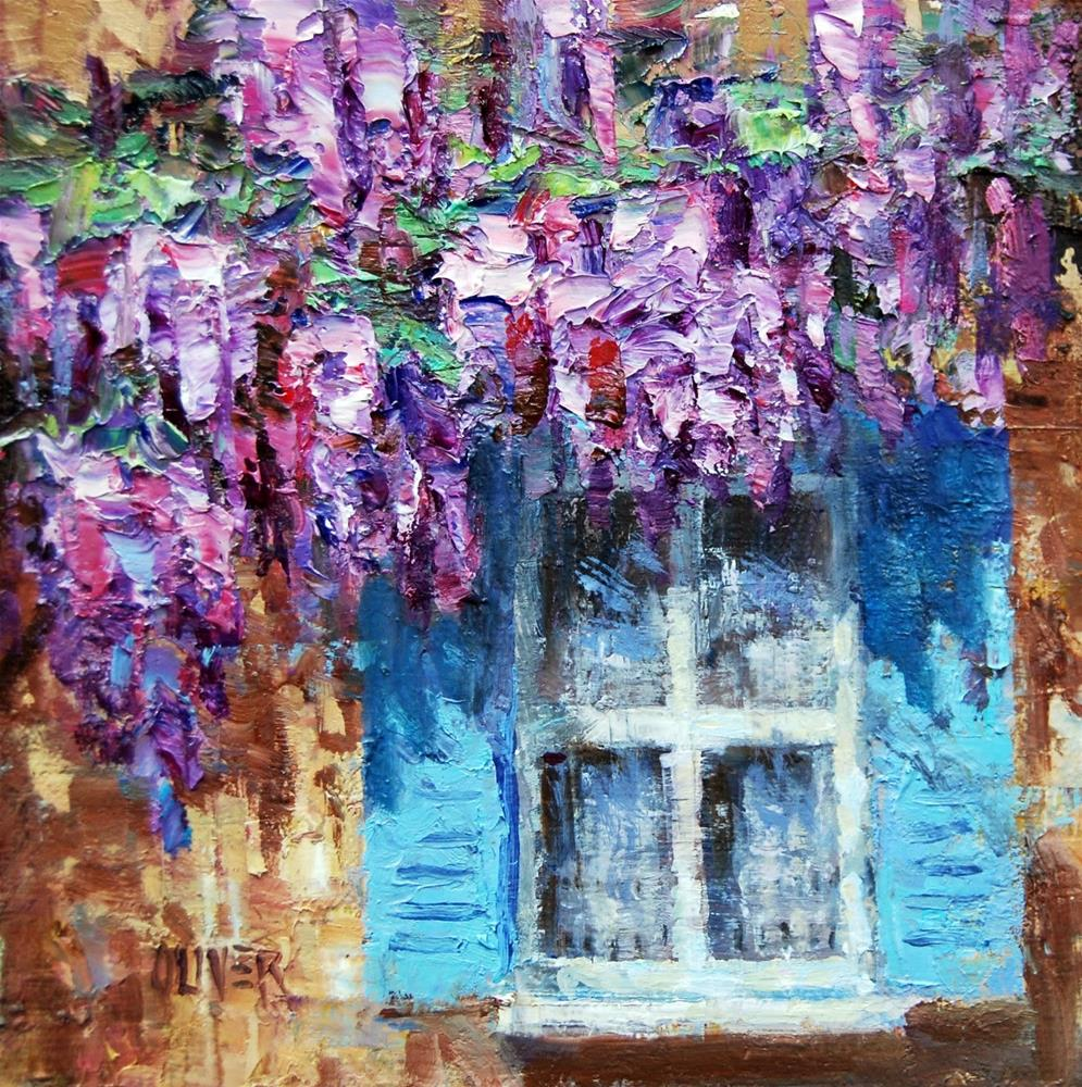 """Wisteria Shadows"" original fine art by Julie Ford Oliver"
