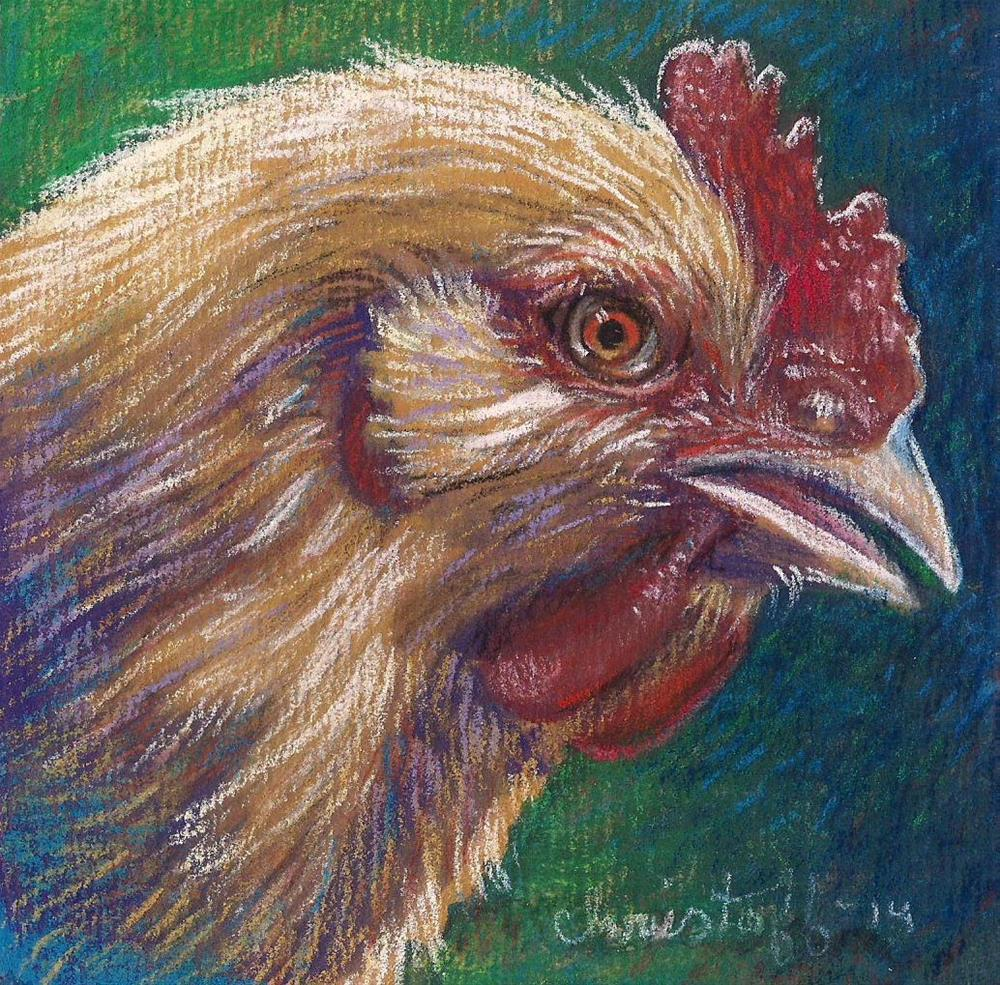 """Chicken Nugget"" original fine art by emily Christoff-Flowers"