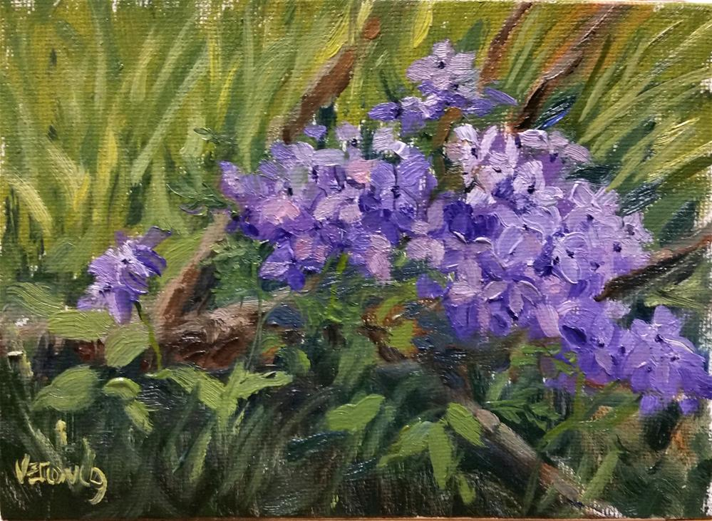 """Spring Wild Flowers-en plein air"" original fine art by Veronica Brown"