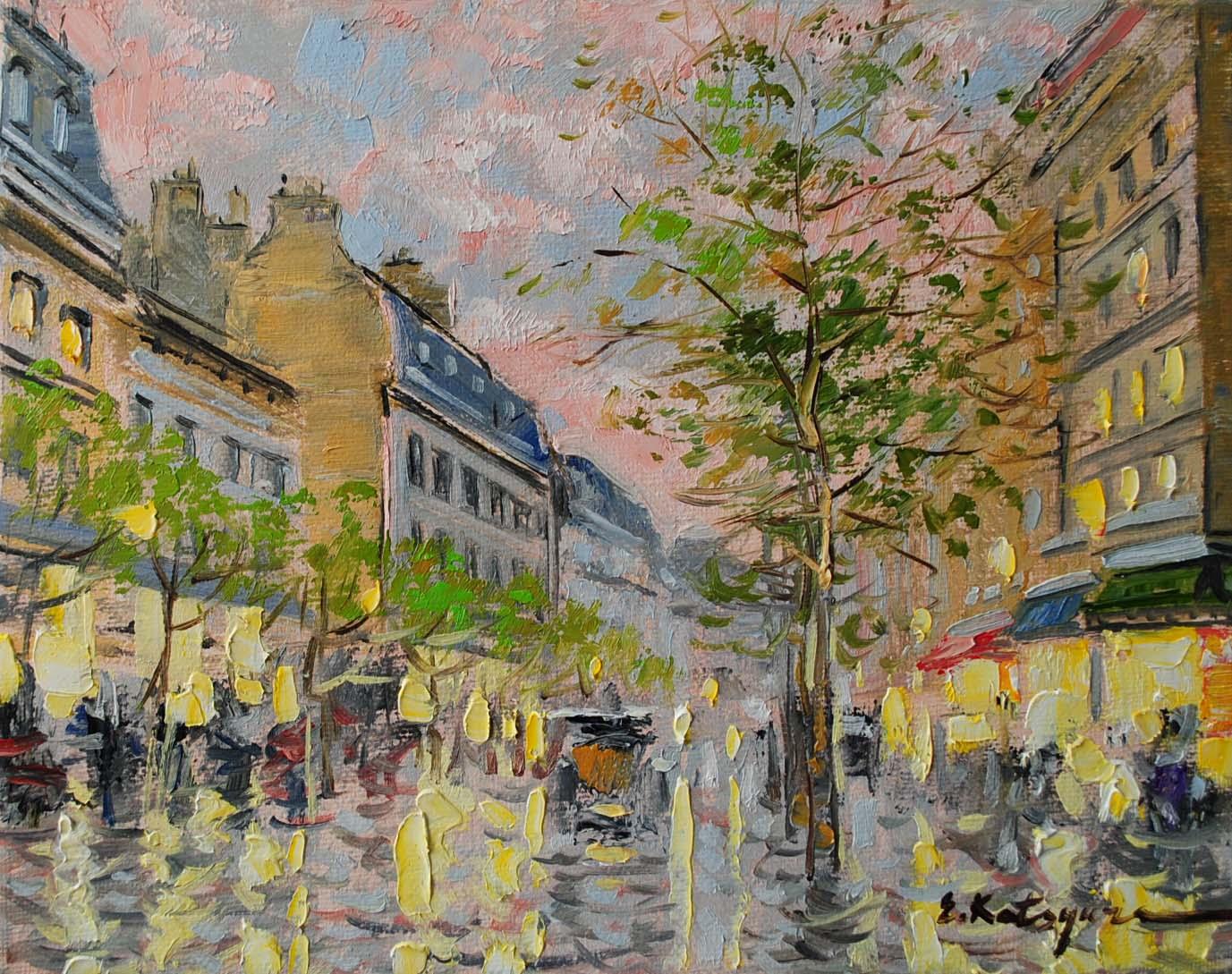 """Paris in Early Spring"" original fine art by Elena Katsyura"