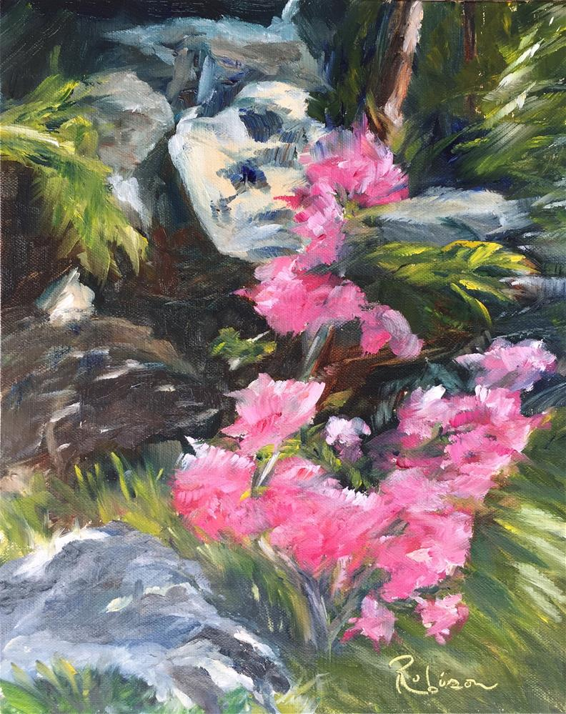 """Wild Azalea"" original fine art by Renee Robison"