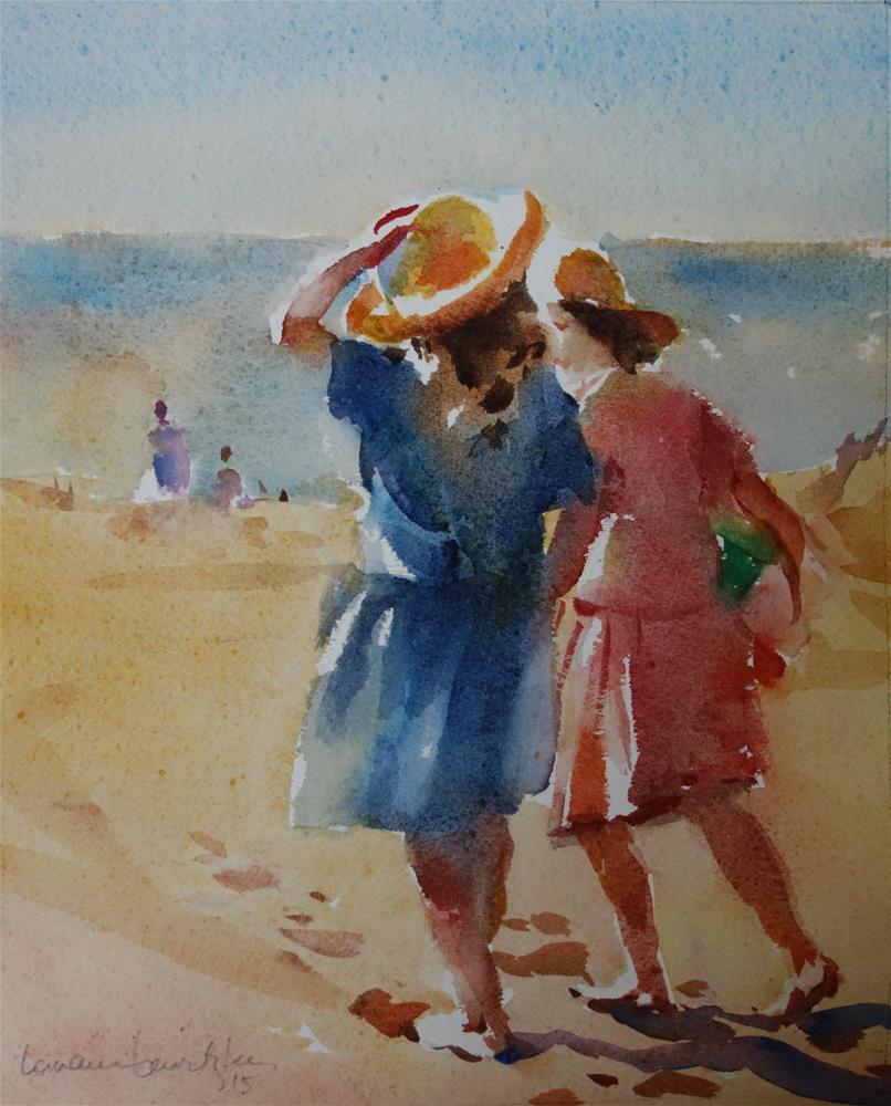 """Footprints"" original fine art by Lorraine Lewitzka"