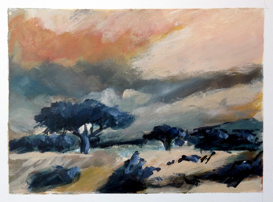 """1777 Four Skies (2)"" original fine art by Dietmar Stiller"