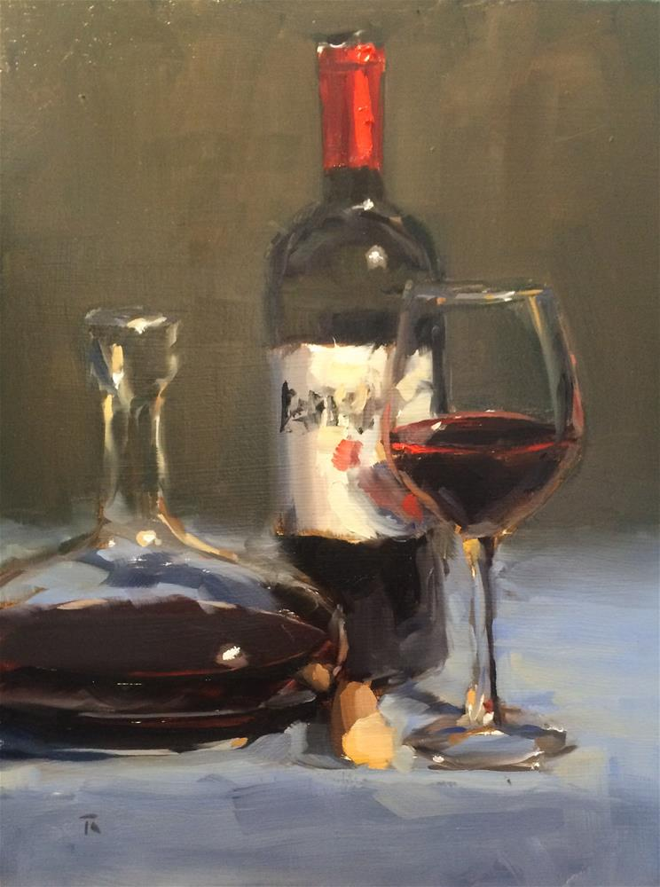 """Red Wine Ramble"" original fine art by Thomas Ruckstuhl"