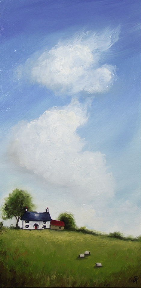 """Big Sky, Little Sheep"" original fine art by Jane Palmer"