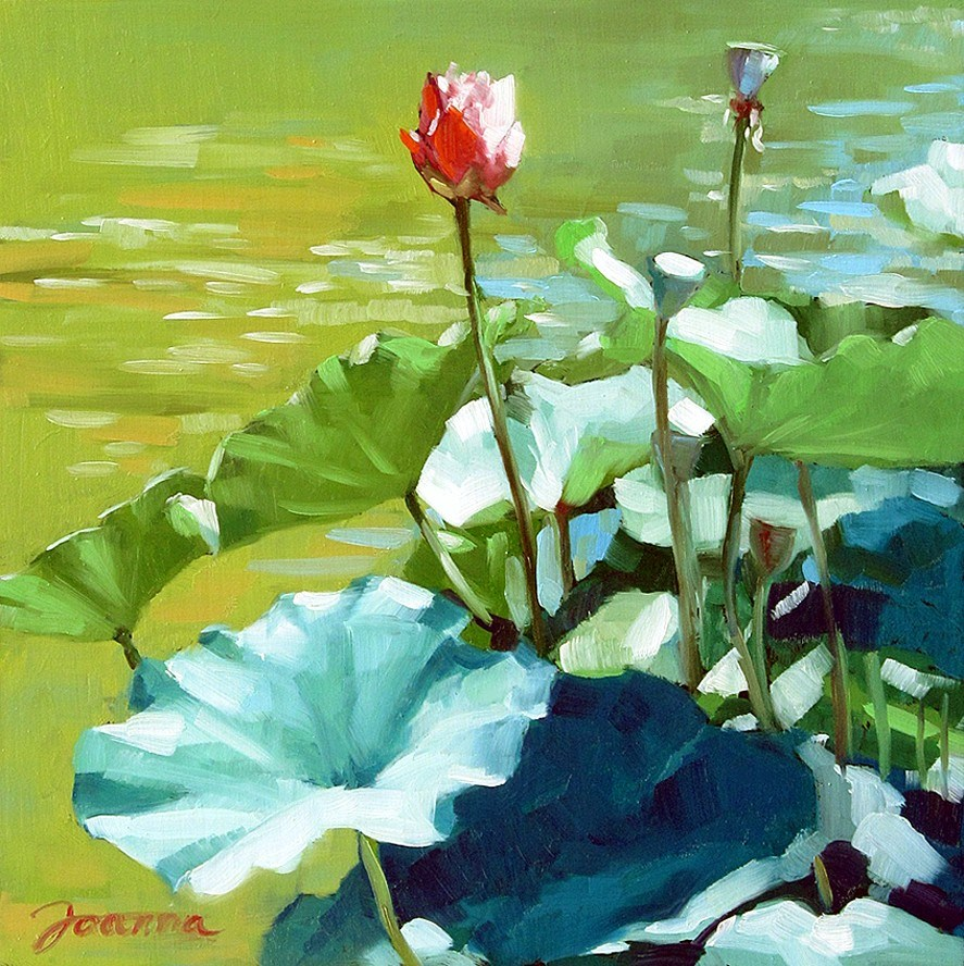 """Rising To The Light--Lotus Painting For Fundraiser"" original fine art by Joanna Bingham"