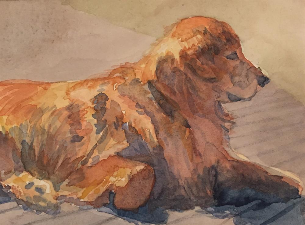 """Warmin' Up"" original fine art by Cindy McDonough"