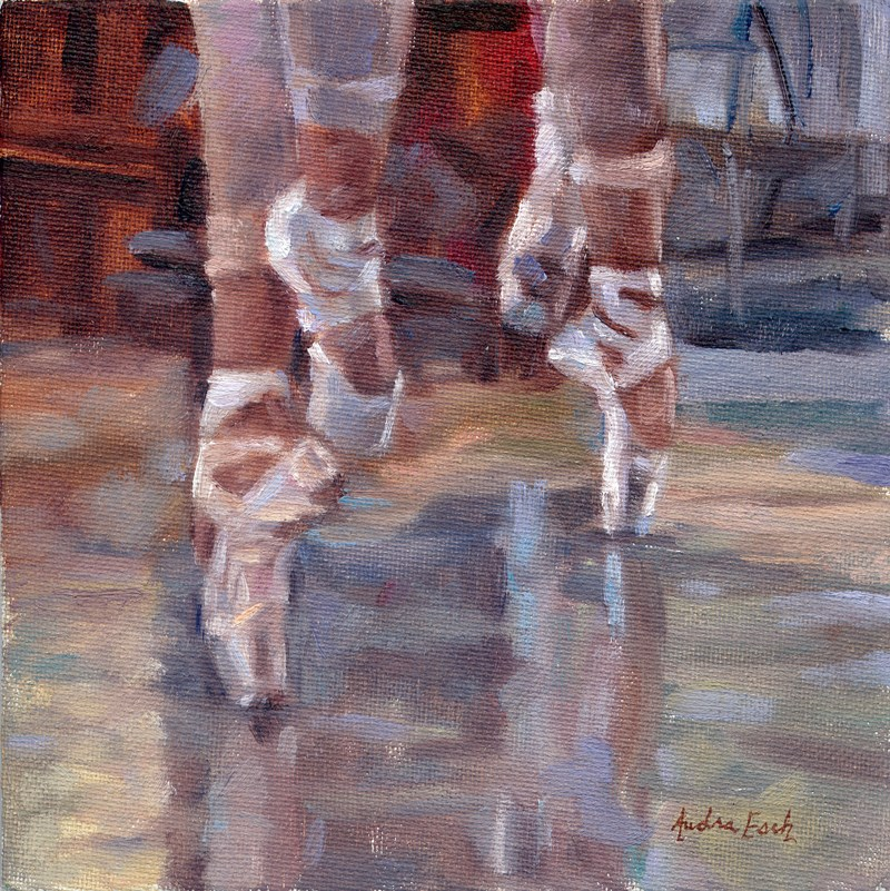 """Los Angeles Ballet: Shoes"" original fine art by Audra Esch"