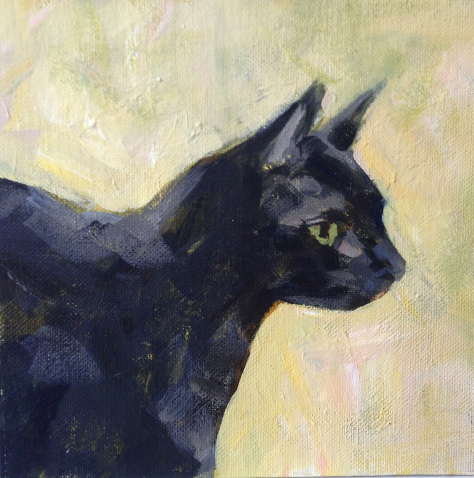 """Curious Cat"" original fine art by Shannon Bauer"