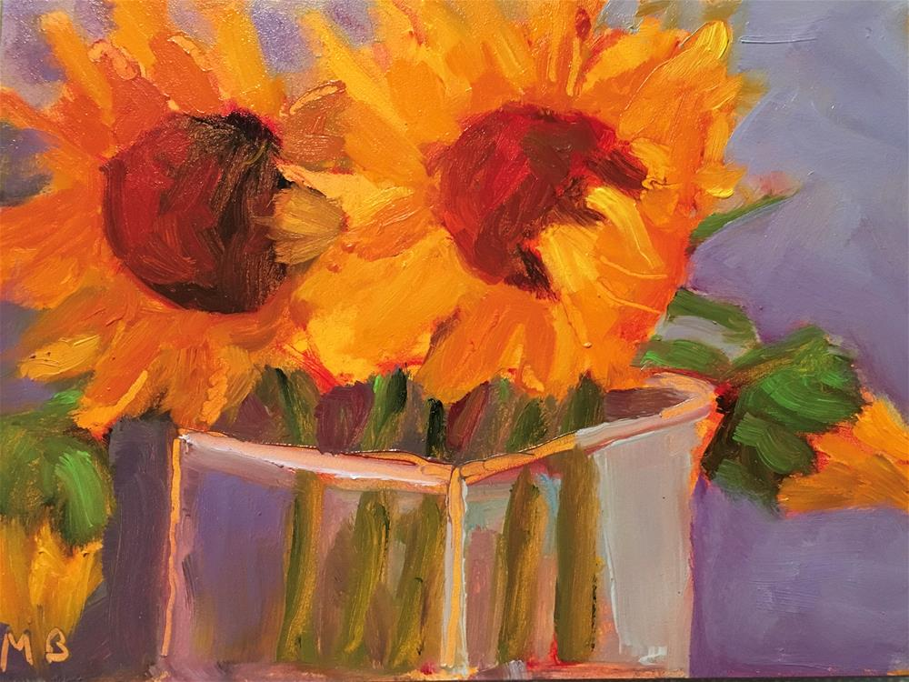 """Sunflowers"" original fine art by Marcia Bergtholdt"