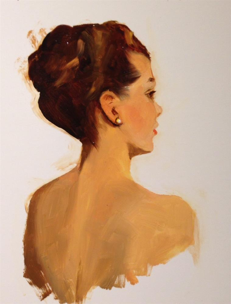 """Saturday Model September"" original fine art by Dorothy Woolbright"