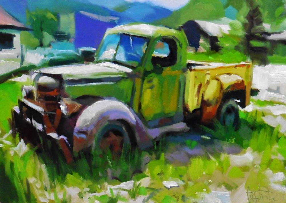 """Old Truck"" original fine art by Víctor Tristante"