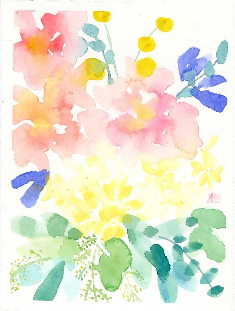 """Color Riot No. 2"" original fine art by Heather Bennett"