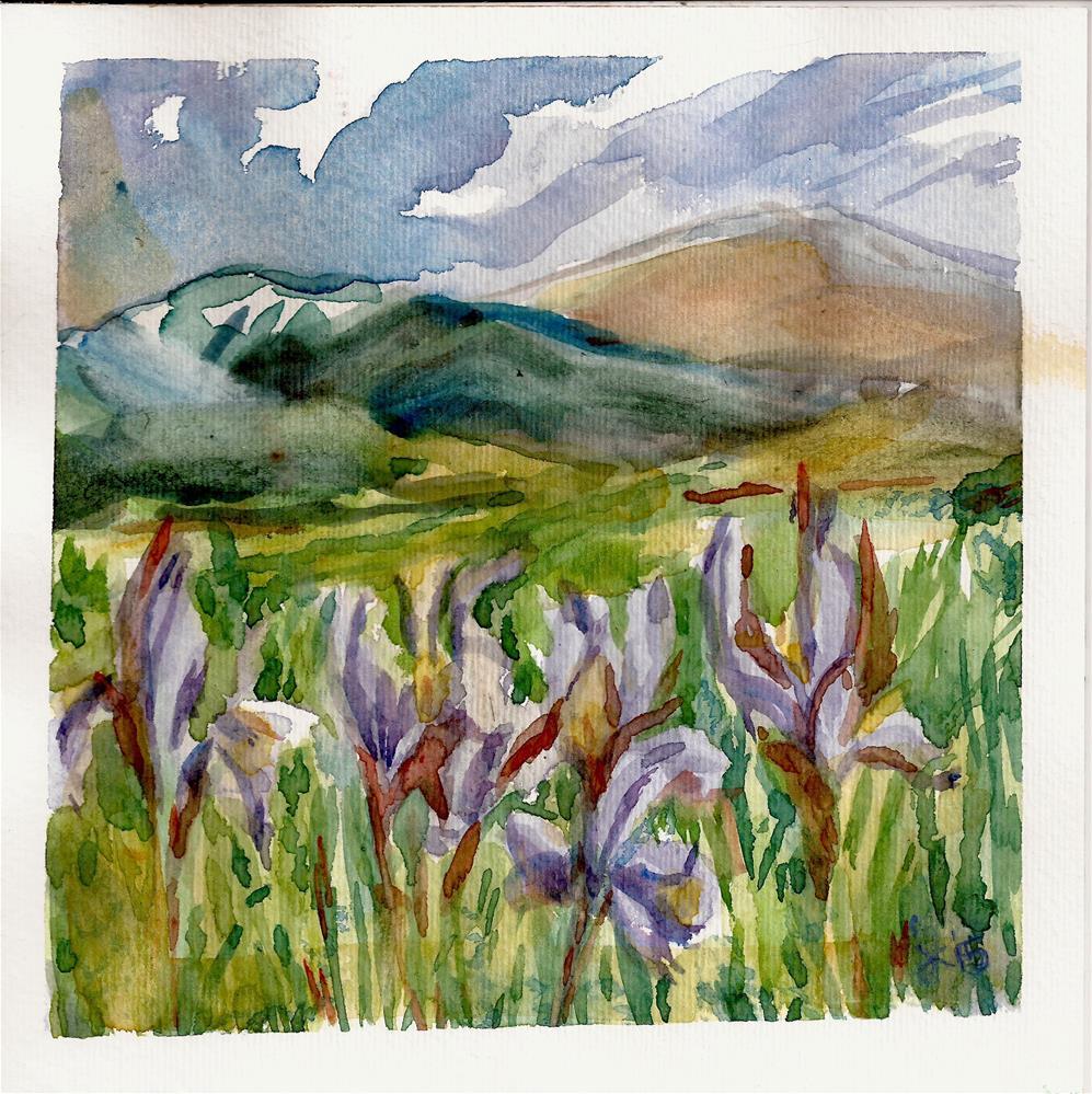 """Wild Iris, Colorado"" original fine art by Jean Krueger"