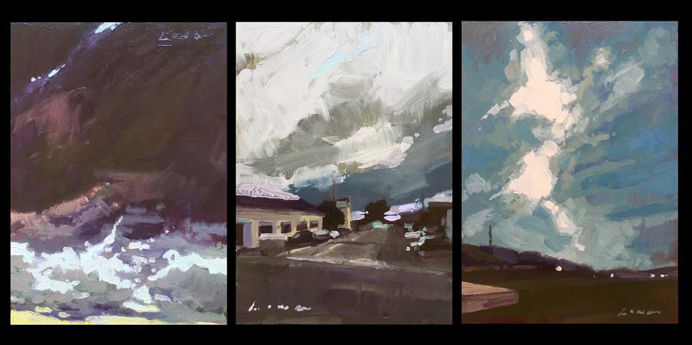 """Mendocino Storm Series"" original fine art by Chris Long"
