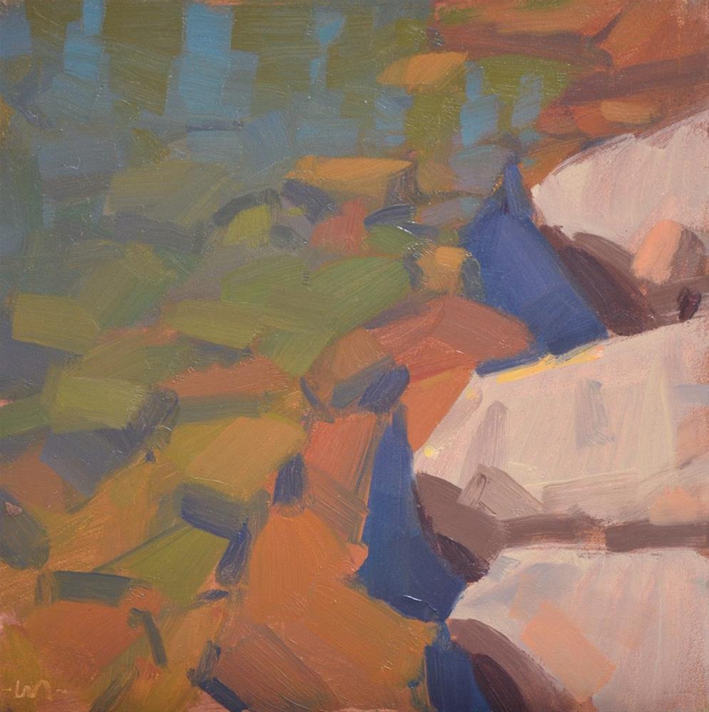"""Water and Rocks II"" original fine art by Carol Marine"