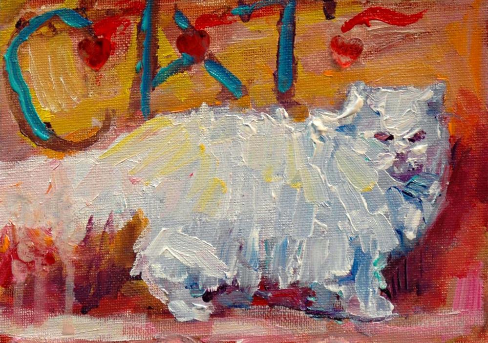 """""""Little White Frock"""" original fine art by Rachel K Schlueter"""