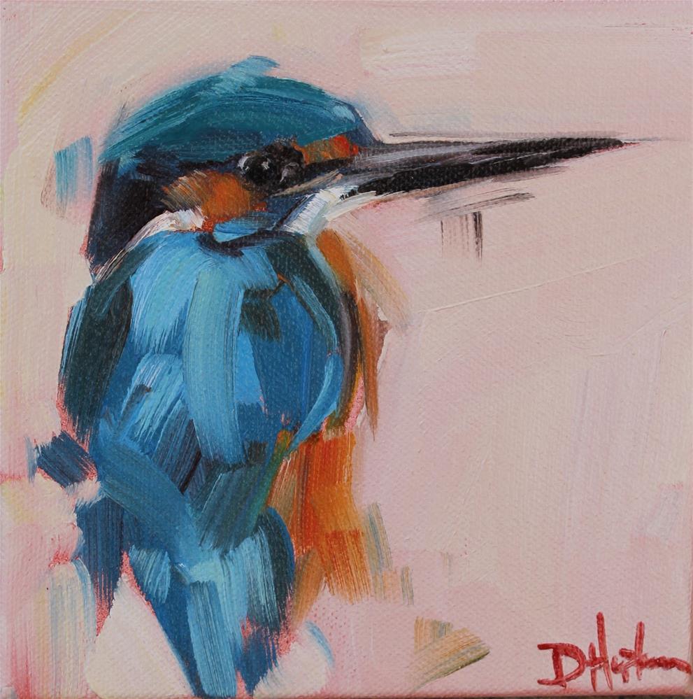 """Kingfisher"" original fine art by Denise Hopkins"