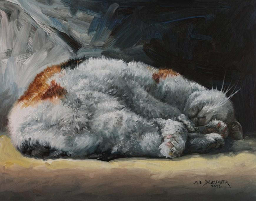 """""""Do Not Disturb"""" original fine art by Sue Deutscher"""