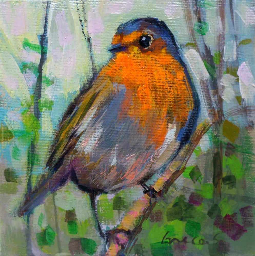 """The robin"" original fine art by salvatore greco"