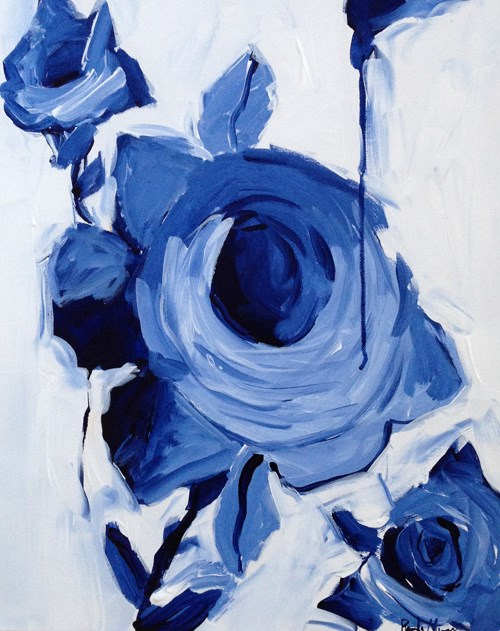 """Indigo Rose"" original fine art by Pamela Munger"