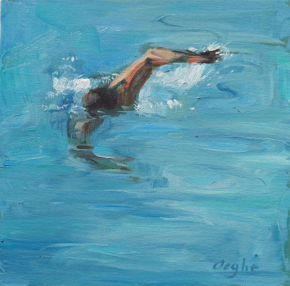"""Freestyle"" original fine art by Angela Ooghe"