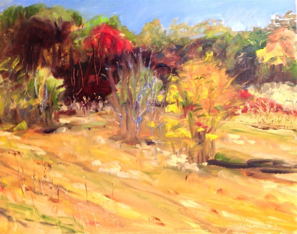 """""""Rock Meadow"""" original fine art by Debra Kennedy"""