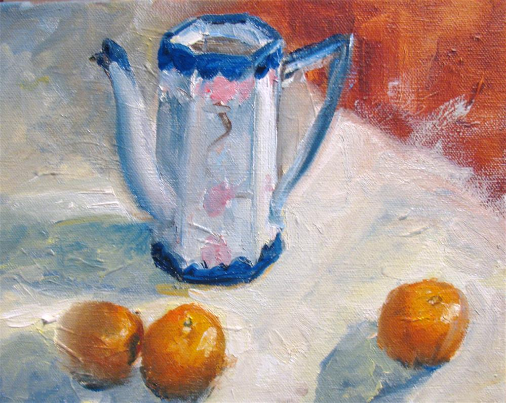 """Clementines"" original fine art by Susan Elizabeth Jones"