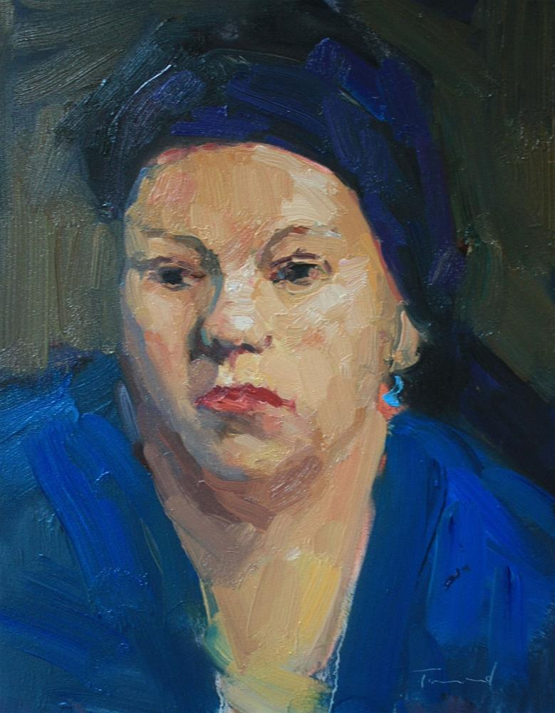 """Woman in Blue"" original fine art by Kathryn Townsend"