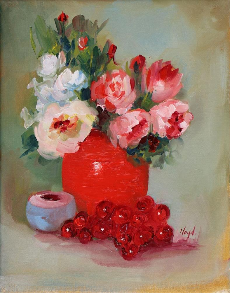"""Red"" original fine art by Diane Lloyd"