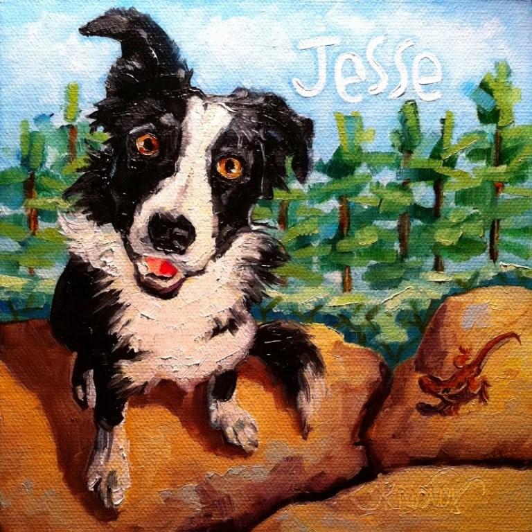 """JESSE"" original fine art by Kristy Tracy"