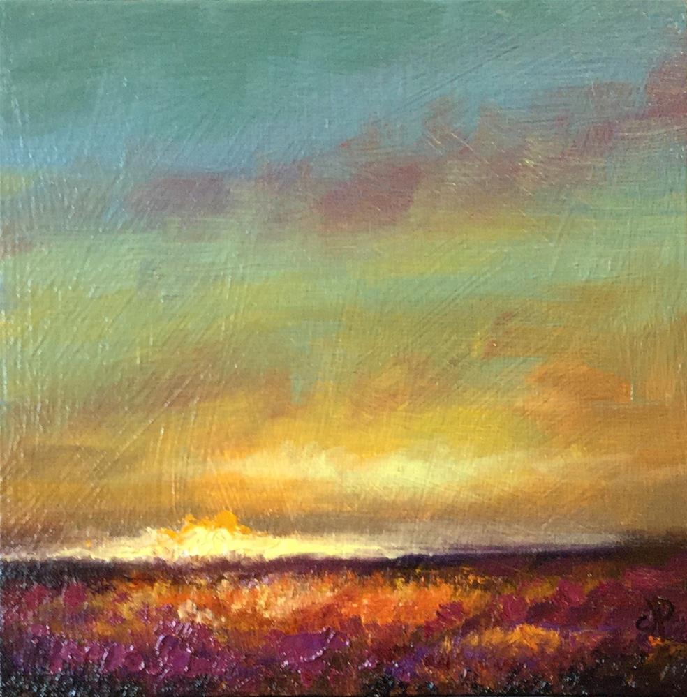 """Sunset over the moors"" original fine art by Jane Palmer"