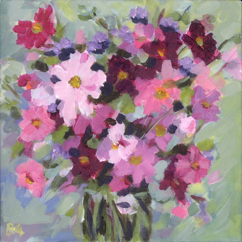"""Garden Cosmos"" original fine art by Pamela Gatens"